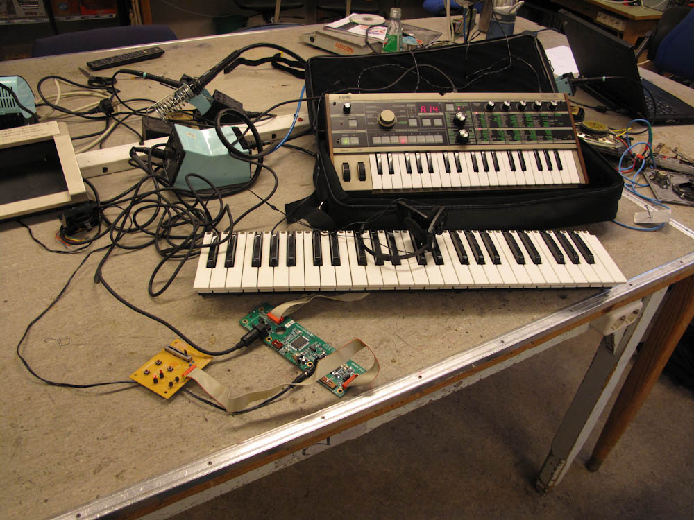 Testing the electronics