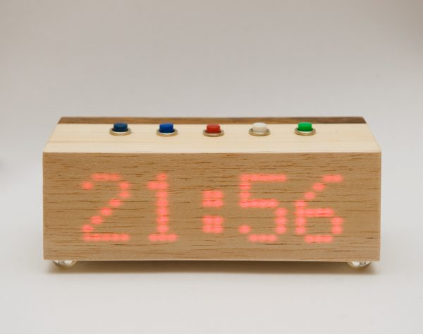 Wood Block Clock