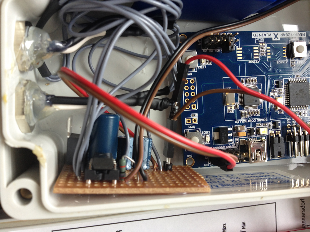 PSU + optocopuler on the breadboard