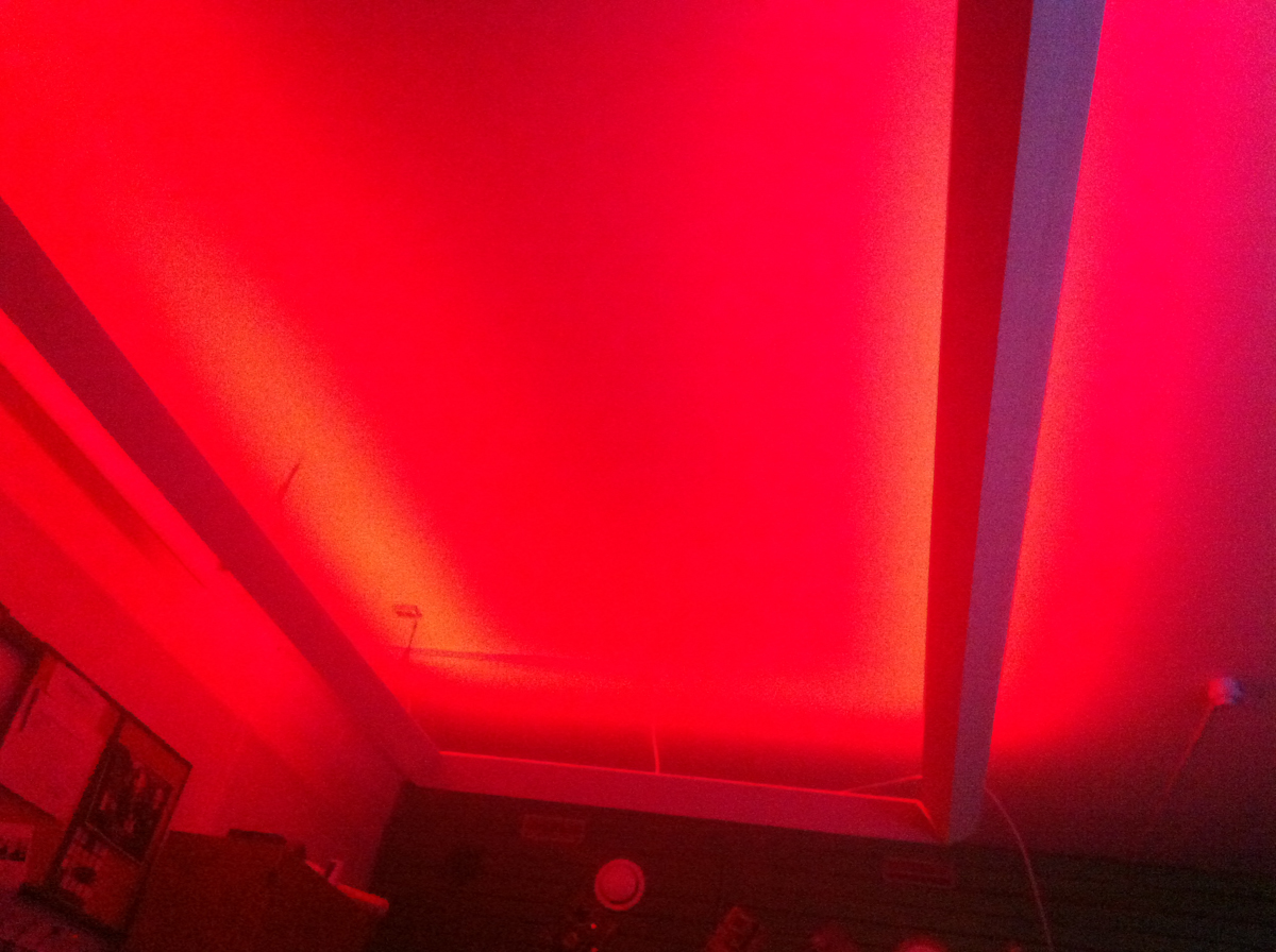 LED ceiling project at my fraternity!
