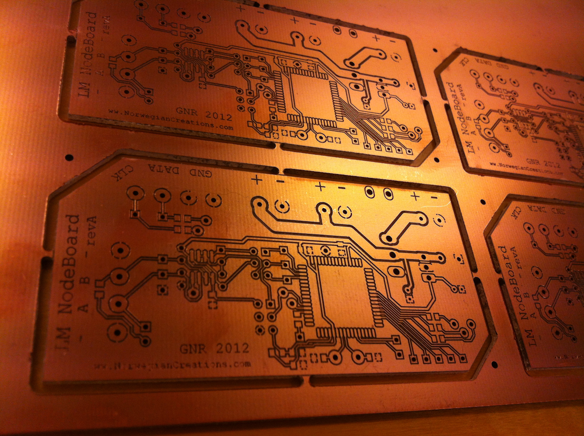 Finished PCB from the miller!