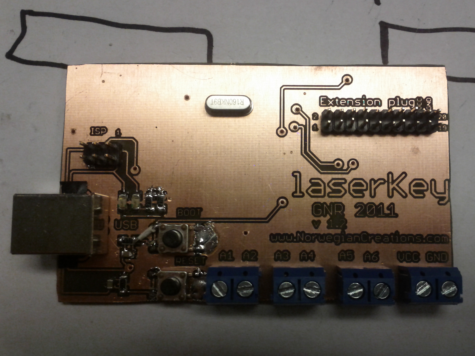 Top view of the board finished soldered! =)