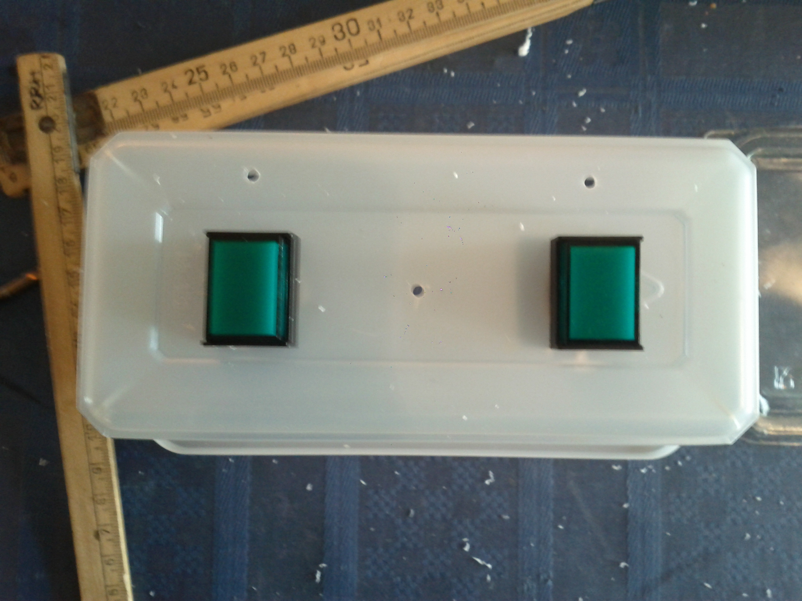 Holes to leds drilled out