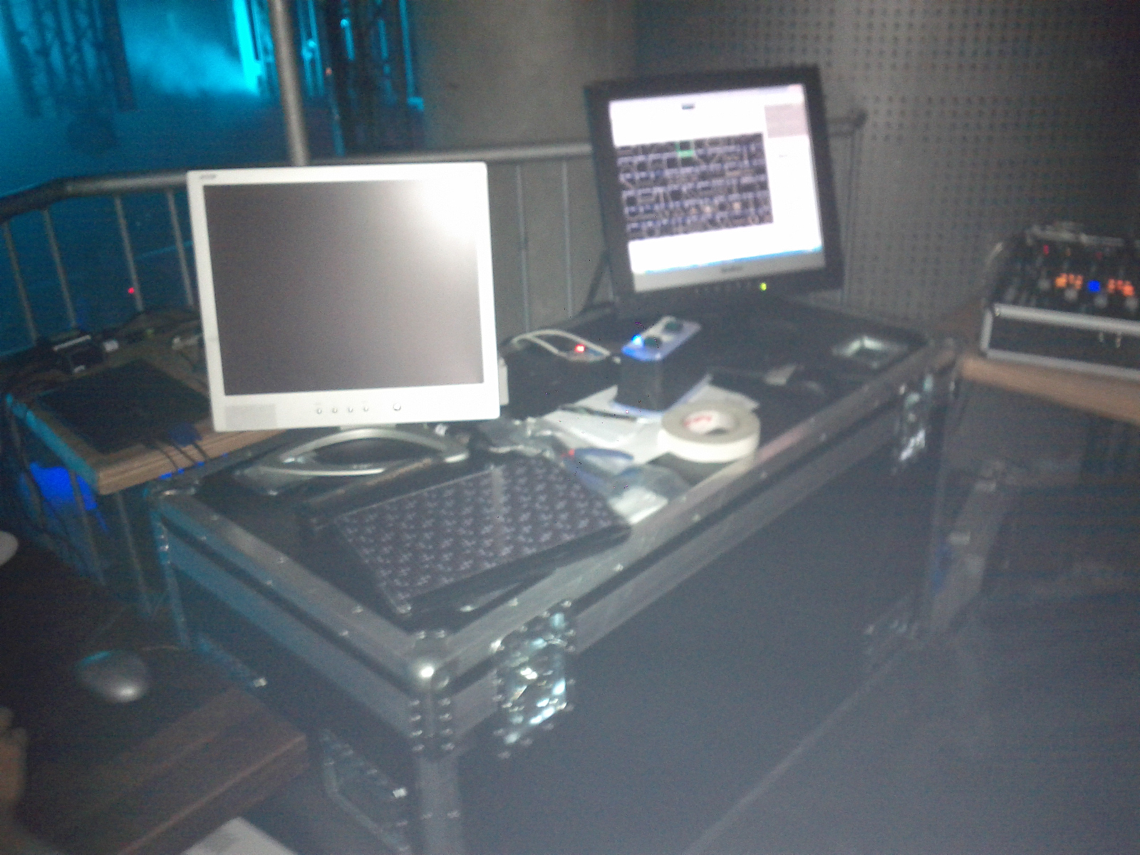 A picture from the laser control desk @ first location