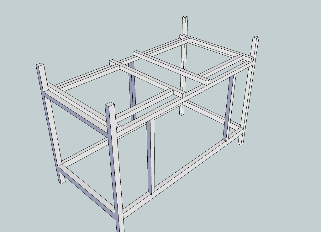 Initial sketch of the frame for the system
