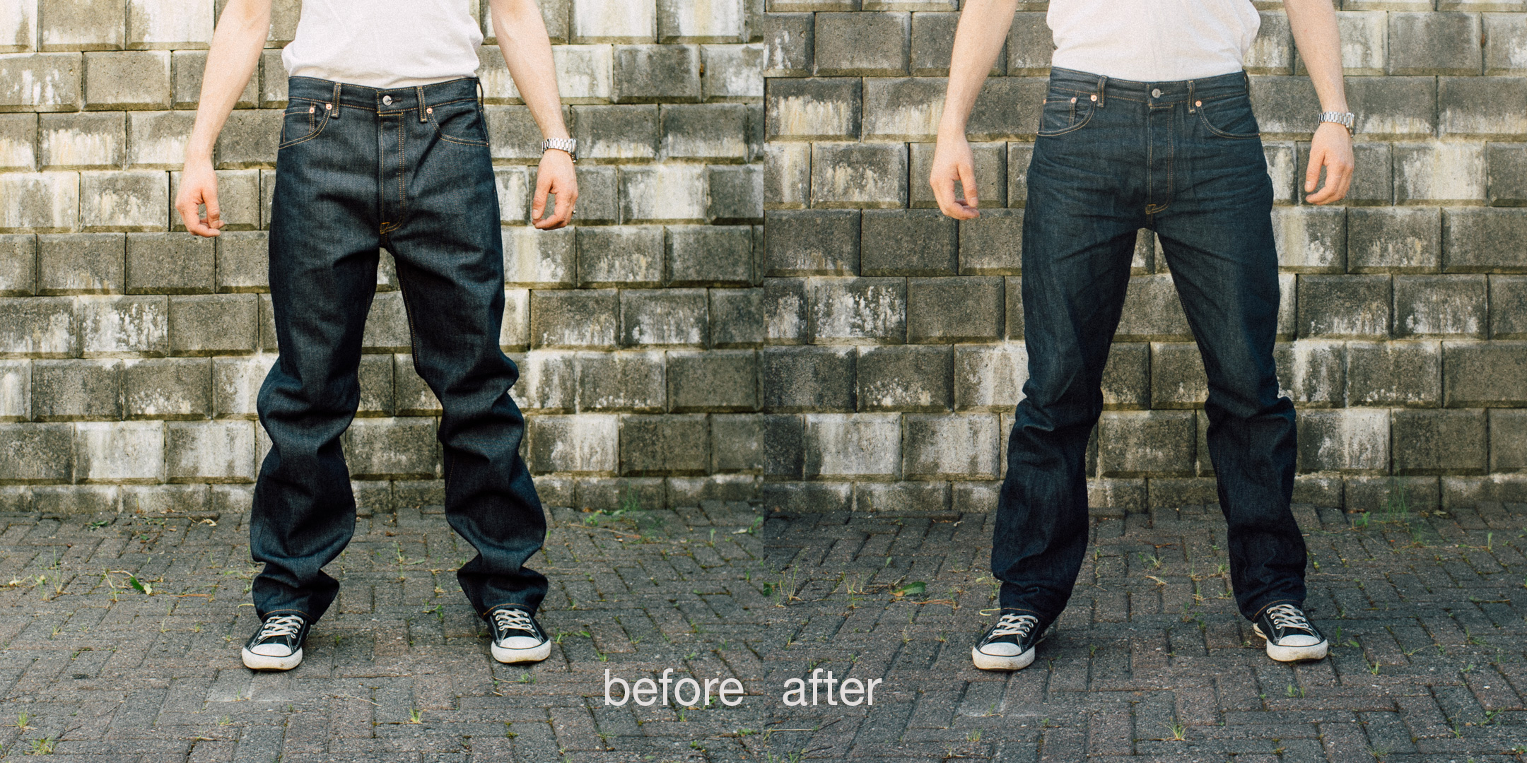 How to shrink to fit the classic Levi's 501 STF Jeans