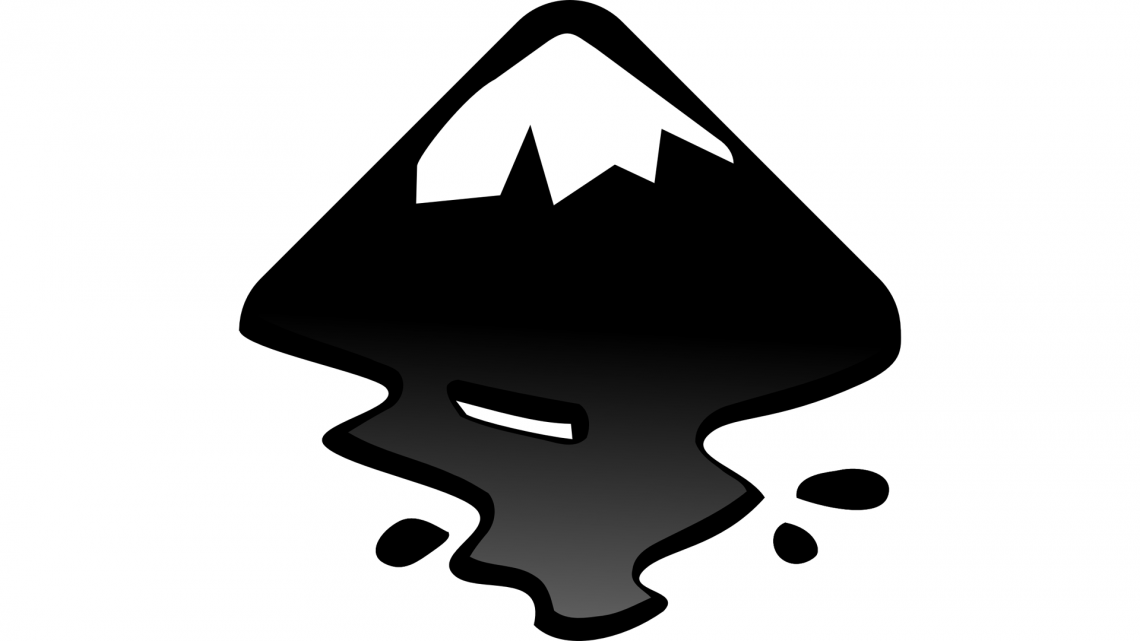 Inkscape's logo has a typical vector graphics look