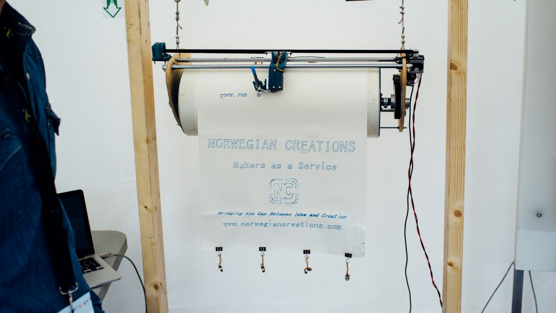 The machine exhibited in our tent at Trondheim Maker Faire 2015