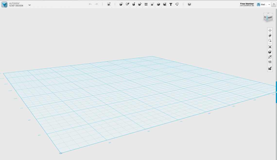 This is what 123D looks like when starting the program.