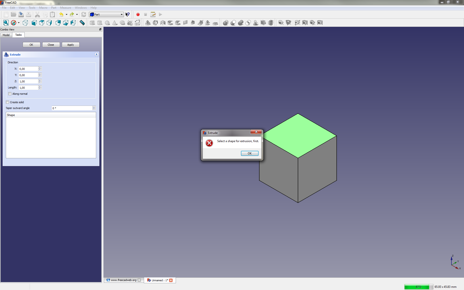 A Quick Look at FreeCAD