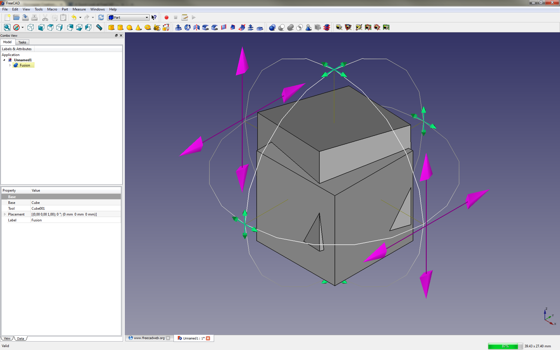 a quick look at freecad norwegian creations