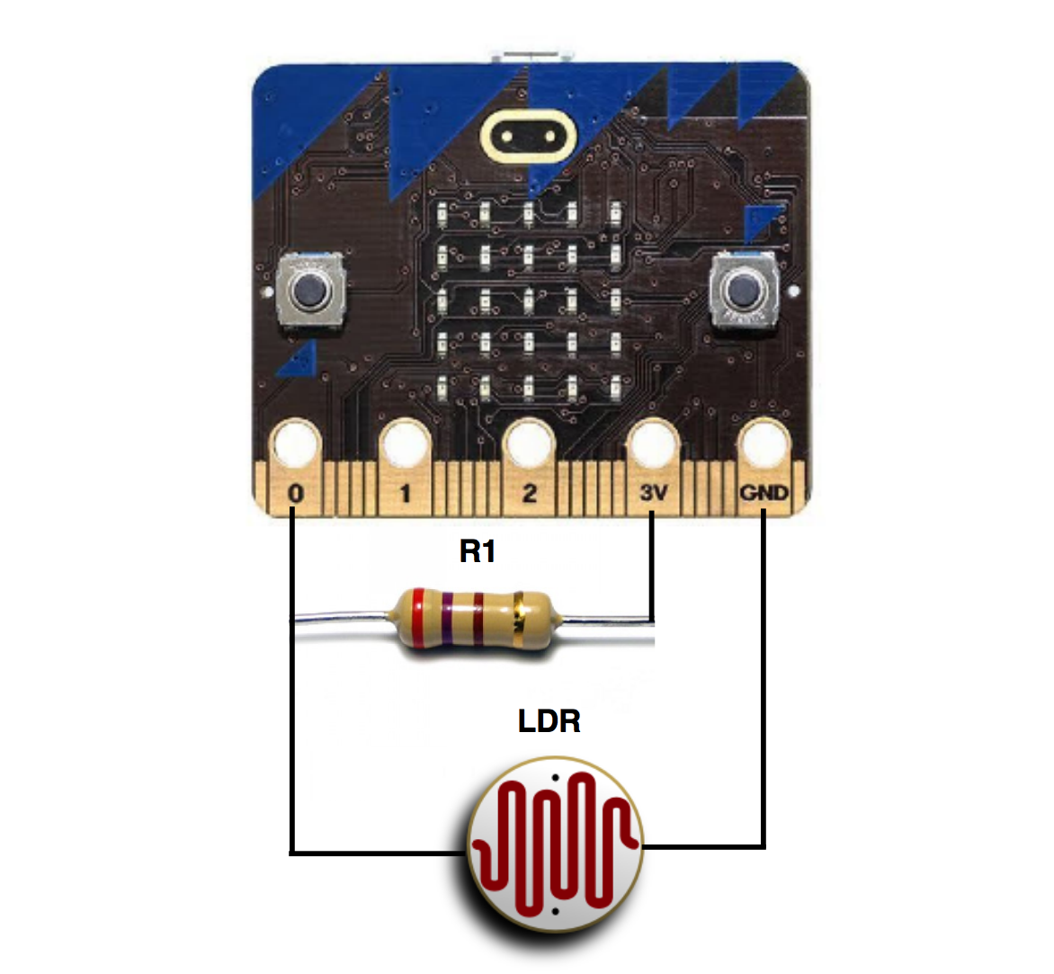 Coffee Timer Part 1 The First Prototype Based On Bbc Microbit Ldr Circuit Light Sensor With Voltage Divider For