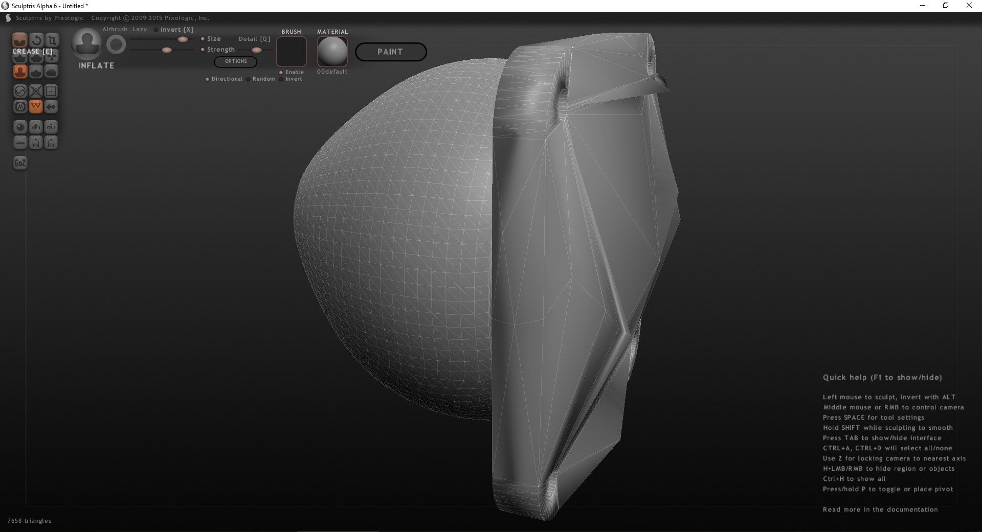Sculptris: First Impressions and 3D Printing