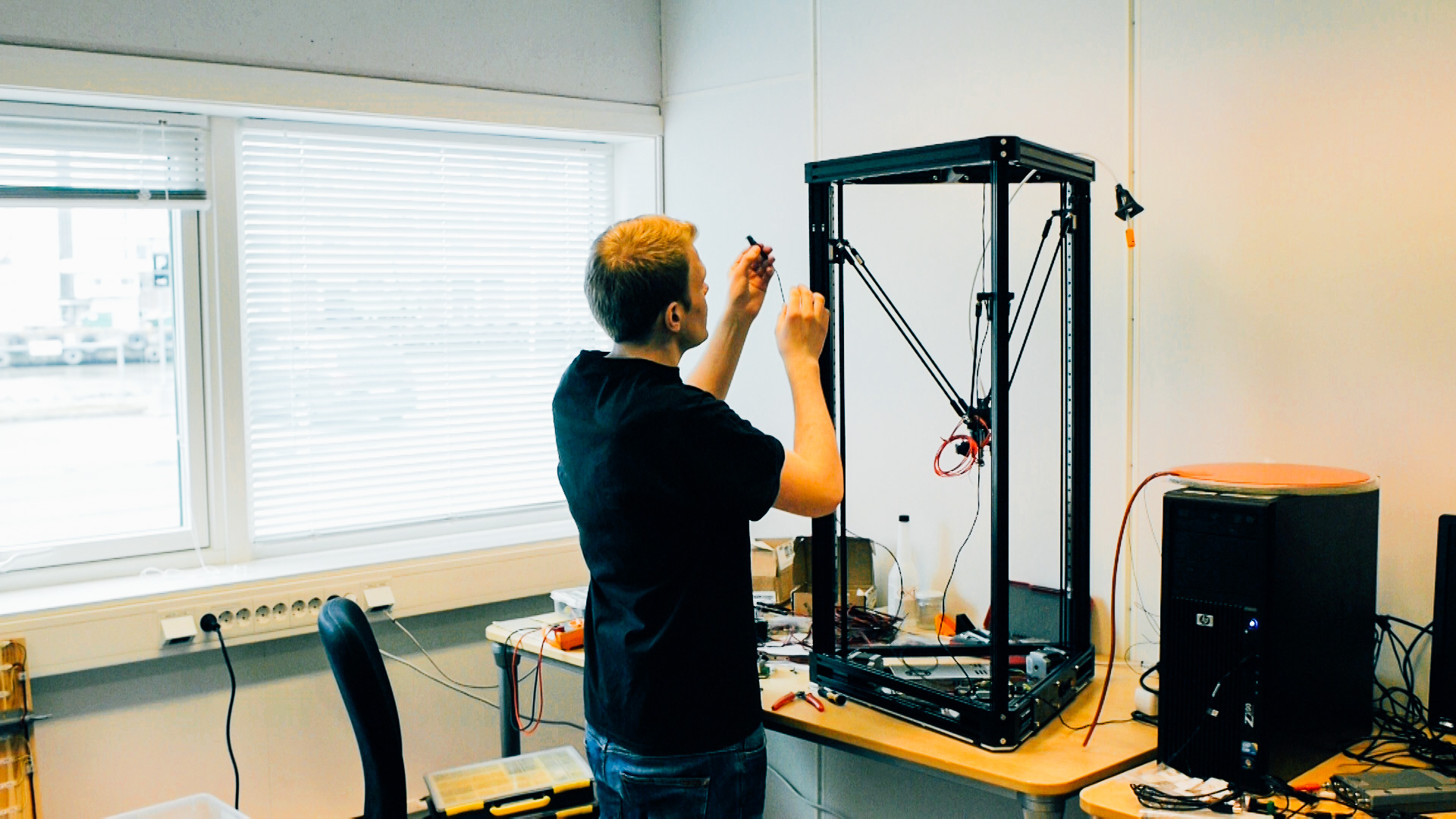 Large Custom Kossel Delta 3D Printer