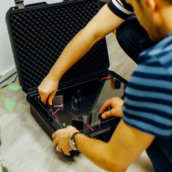 Portable Laser Puzzle
