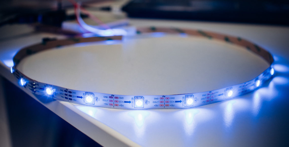 Programming Digital RGB LED Strips with Arduino and the FastLED Library